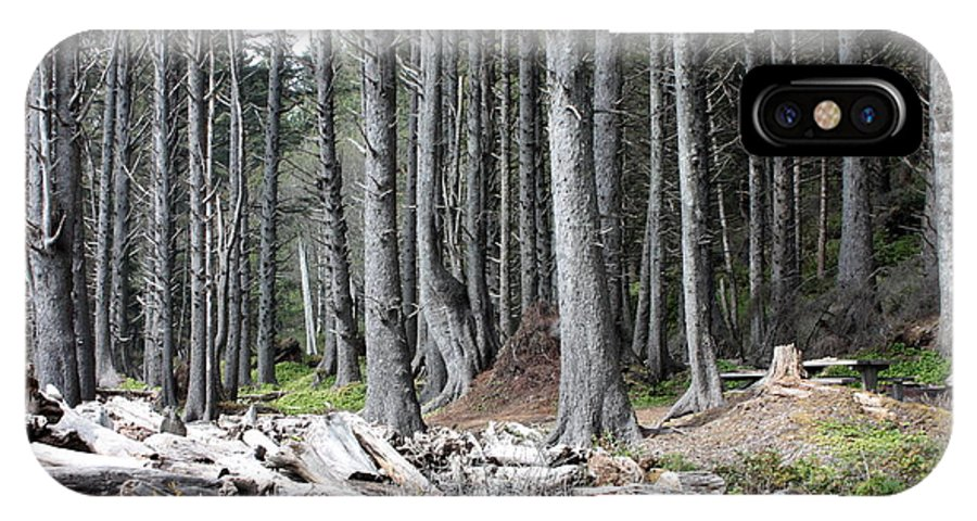 Wolf Legends IPhone X Case featuring the photograph La Push Beach Trees by Carol Groenen