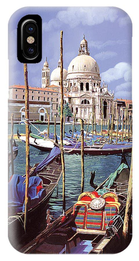 Church IPhone X Case featuring the painting La Salute by Guido Borelli