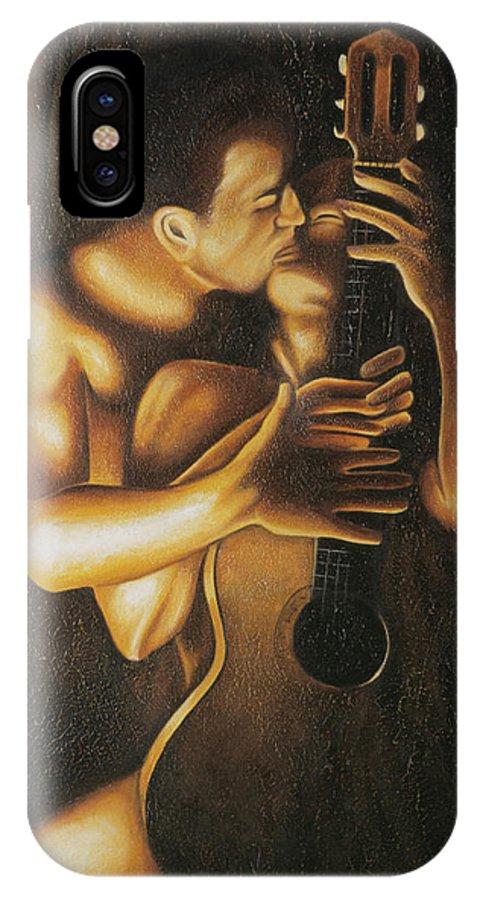 Acrylic IPhone X / XS Case featuring the painting La Serenata by Arturo Vilmenay