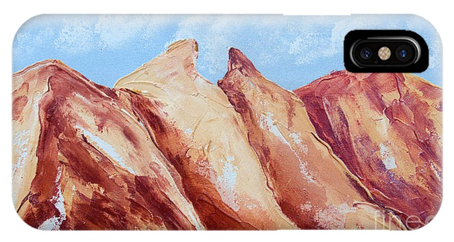 Mountains IPhone X Case featuring the painting La Silla Six by Kandyce Waltensperger