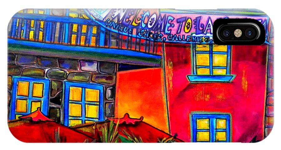 San Antonio IPhone X Case featuring the painting La Villita Entrance by Patti Schermerhorn