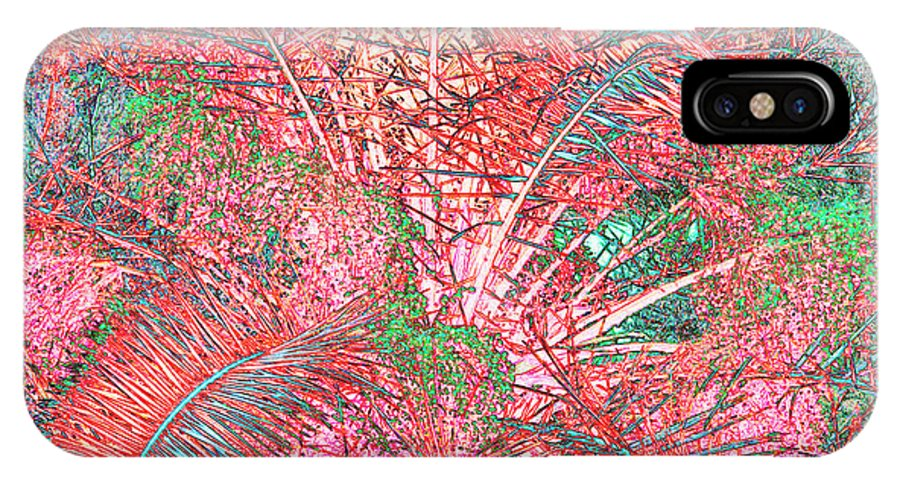 Palms IPhone X Case featuring the photograph Lacy Pink Palms by Rosalie Scanlon