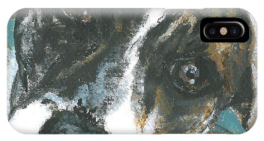 Mini Paintings IPhone X Case featuring the painting Lady 2 by Sarah Lowe