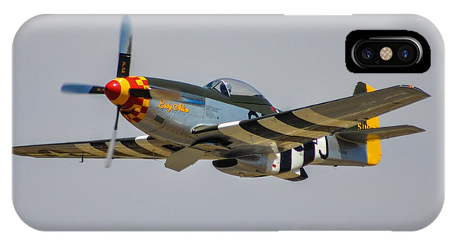 North American P-51d Mustang IPhone X Case featuring the photograph Lady Alice 4 by Tommy Anderson