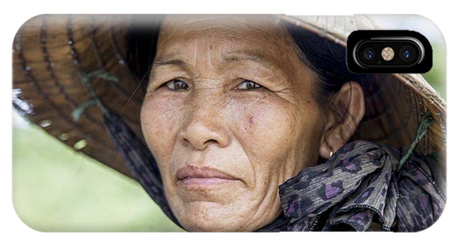 Portrait IPhone X / XS Case featuring the photograph Lady by Florent Chaudemanche