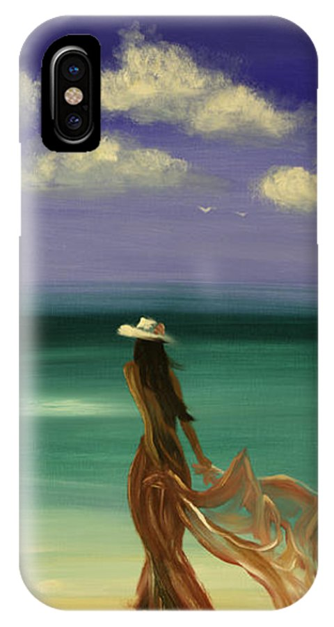 Nice IPhone Case featuring the painting Lady In Red by Gina De Gorna