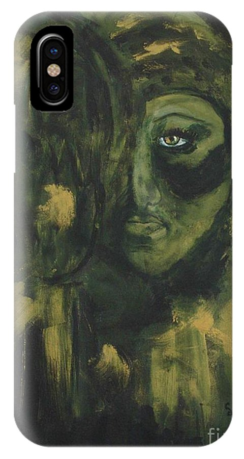 Lady Ivy IPhone X Case featuring the painting Lady Ivy by Shelley Jones