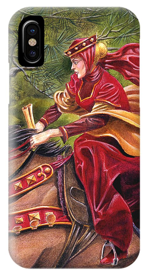 Camelot IPhone Case featuring the painting Lady Lunete by Melissa A Benson