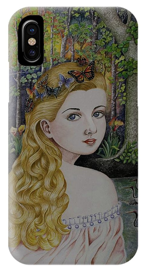 Lady Of The Lake IPhone X Case featuring the painting Lady Of The Lake by Olive Pascual