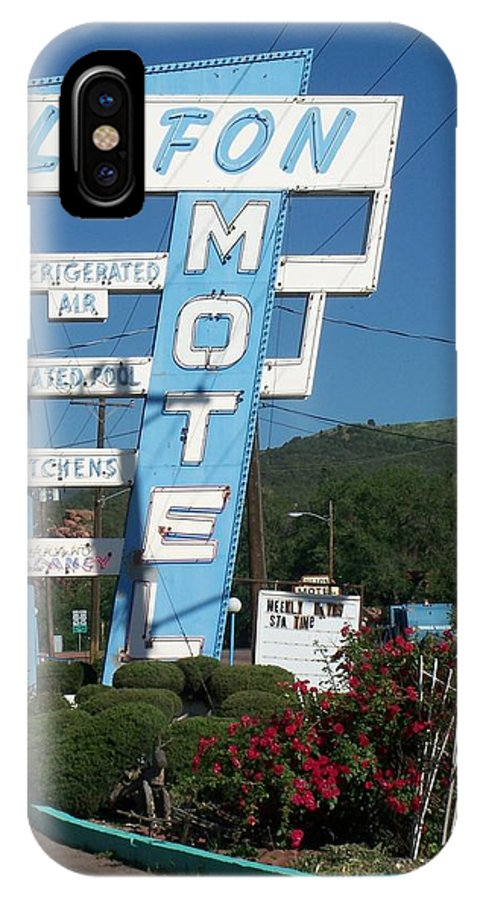 Vintage Motel Signs IPhone X Case featuring the photograph Lafon Motel by Anita Burgermeister