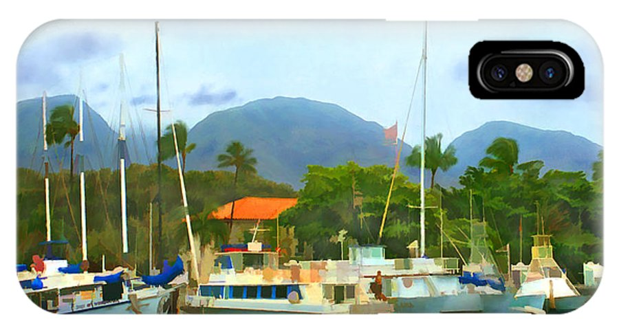 Lahina IPhone X Case featuring the photograph Lahina Harbor by Kurt Van Wagner