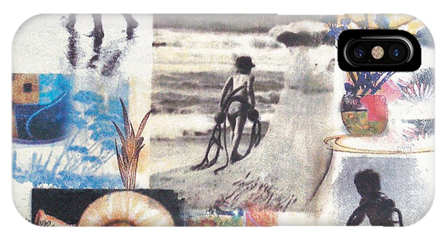 Abstract IPhone Case featuring the painting Lajolla by Valerie Meotti