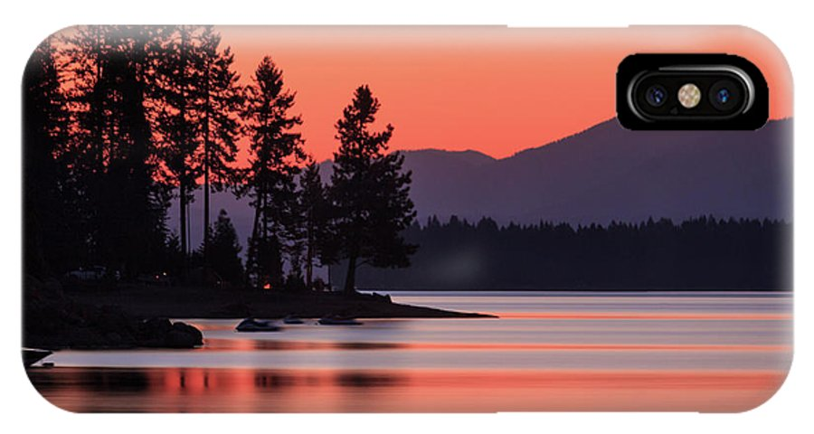 Landscape IPhone X Case featuring the photograph Lake Almanor Twilight by James Eddy