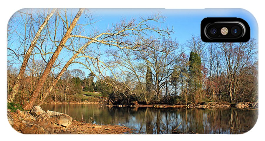 Landscape IPhone X Case featuring the photograph Lake And Trees In Early Spring by Todd Blanchard