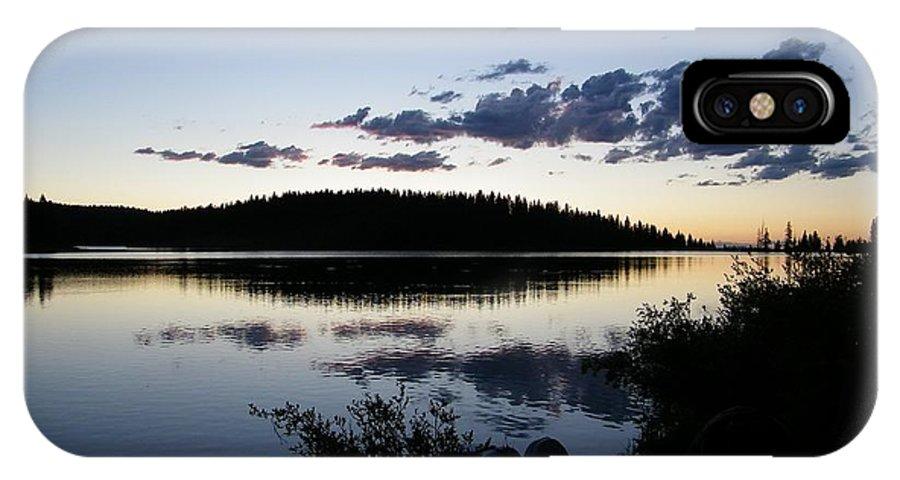 Lake IPhone X Case featuring the photograph Lake At Dusk by Tina Barnash