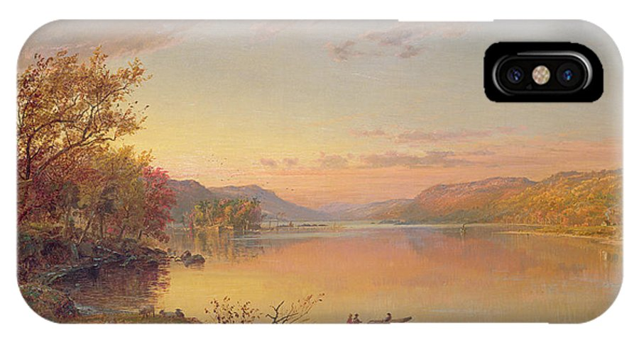 American Landscape IPhone X Case featuring the painting Lake George Ny by Jasper Francis Cropsey