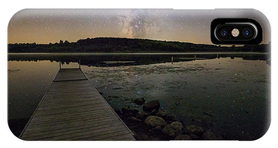 Milky Way IPhone X Case featuring the photograph Lake Lakota Way by Aaron J Groen