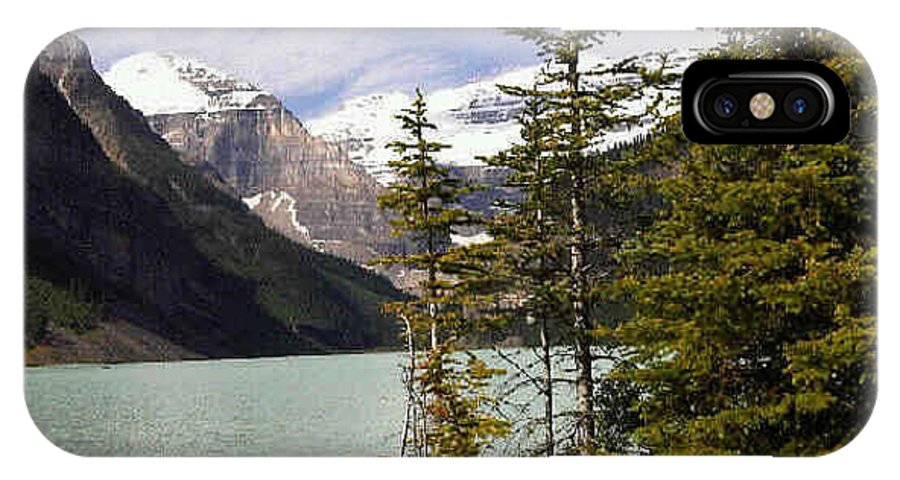 Water IPhone X Case featuring the photograph Lake Louise, Banff, Alberta, Canada by Darla Hershey