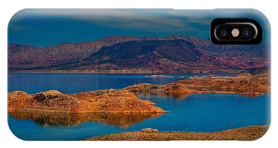 Arizona IPhone X Case featuring the photograph Lake Mead by Izet Kapetanovic