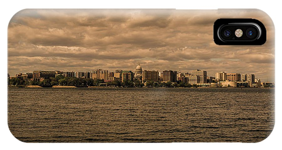 Lake IPhone X Case featuring the photograph Lake Monona Skyline by Rockland Filmworks