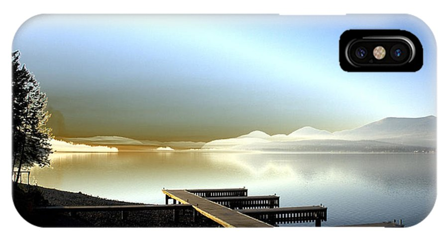 Landscape IPhone X Case featuring the photograph Lake Pend d'Oreille fantasy by Lee Santa