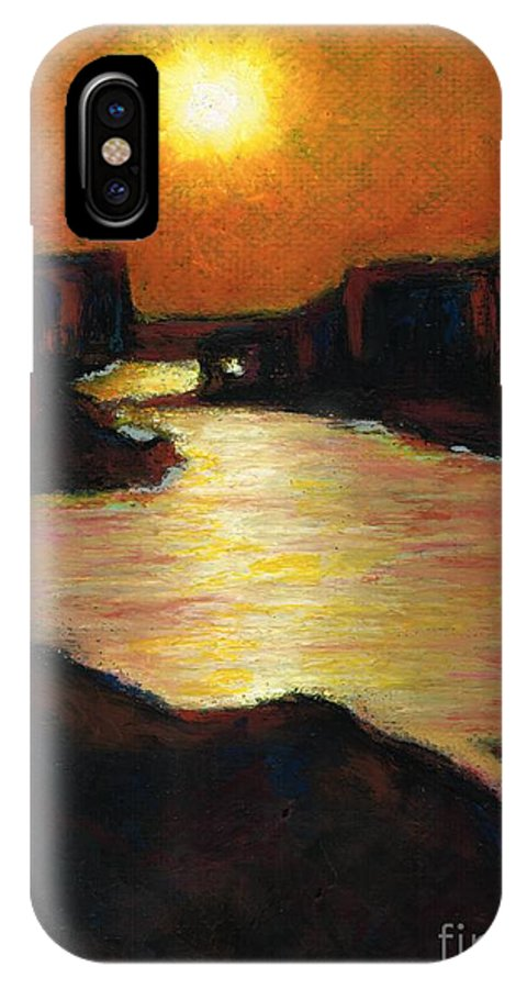 Lake Powell IPhone X Case featuring the painting Lake Powell At Sunset by Frances Marino