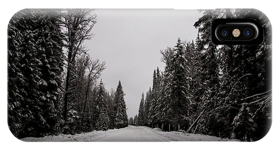Mccall IPhone X Case featuring the photograph Lake Road by Angus Hooper Iii