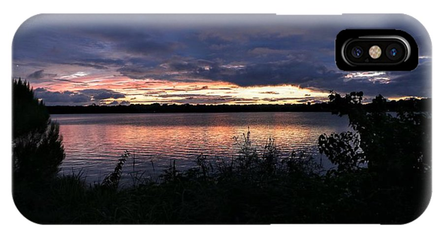 Lake IPhone X Case featuring the photograph Lake Sky by Daniel Casey