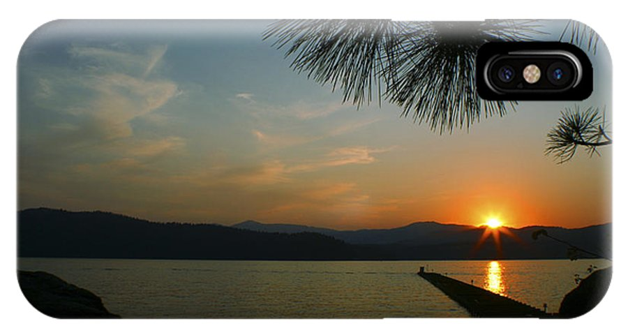 Sunset IPhone Case featuring the photograph Lake Sunset by Idaho Scenic Images Linda Lantzy