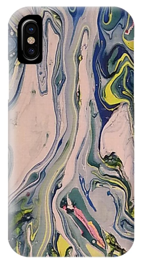 IPhone X Case featuring the painting Lake Swirl 3 by Jan Pellizzer