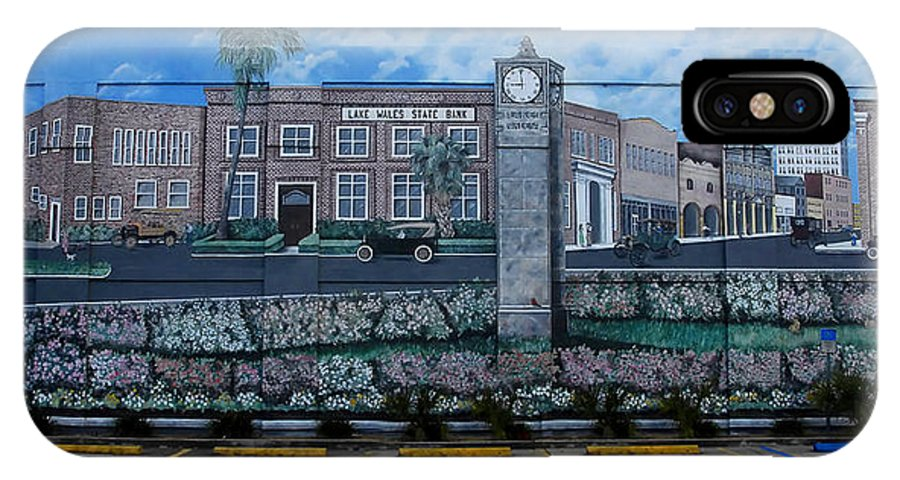 Photography IPhone X Case featuring the photograph Lake Wales Florida Mural by David Lee Thompson