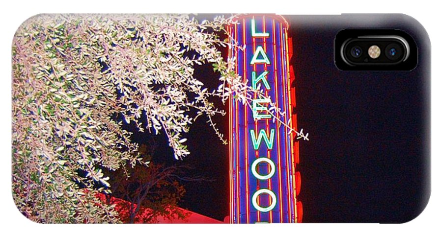 Theater IPhone X Case featuring the photograph Lakewood Theater by Debbi Granruth