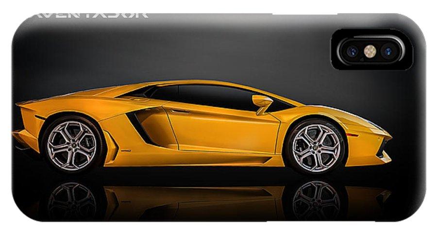 Exotic IPhone X Case featuring the digital art Lamborghini Aventador by Douglas Pittman