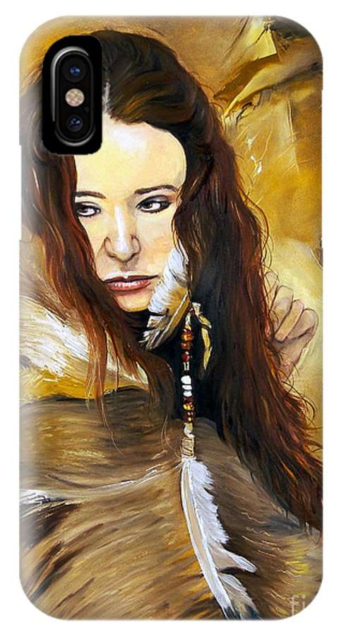 Southwest Art IPhone X Case featuring the painting Lament by J W Baker
