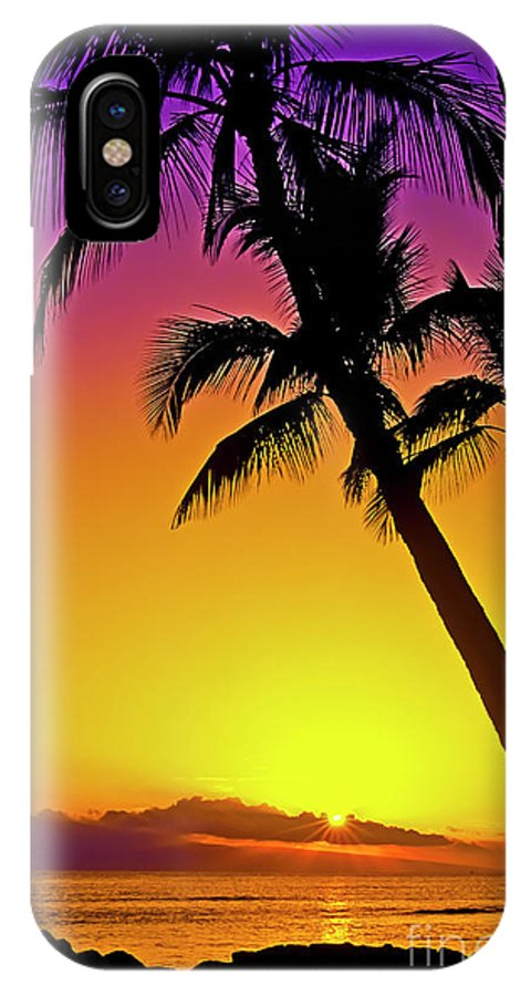 Sunset IPhone Case featuring the photograph Lanai Sunset II Maui Hawaii by Jim Cazel