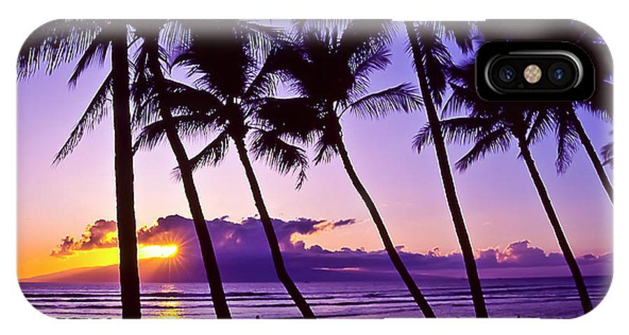 Landscapes IPhone X / XS Case featuring the photograph Lanai Sunset by Jim Cazel