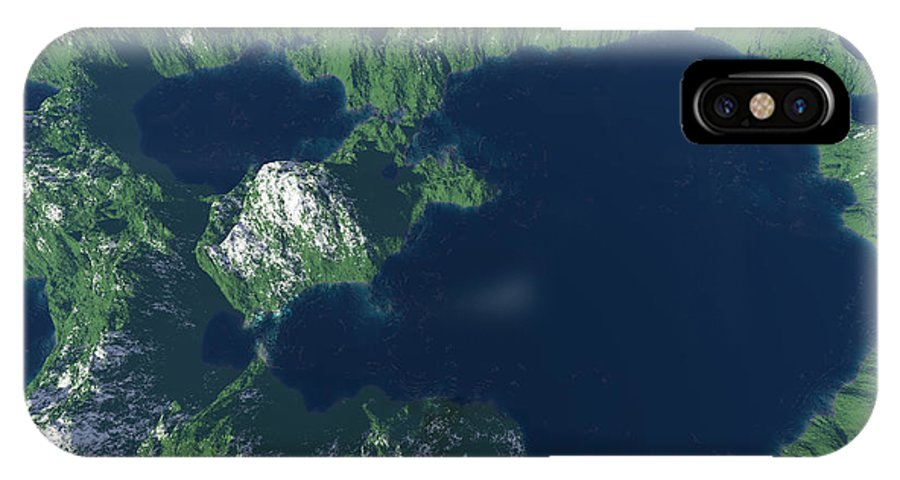 Craters IPhone X Case featuring the digital art Land Of A Thousand Lakes by Gaspar Avila