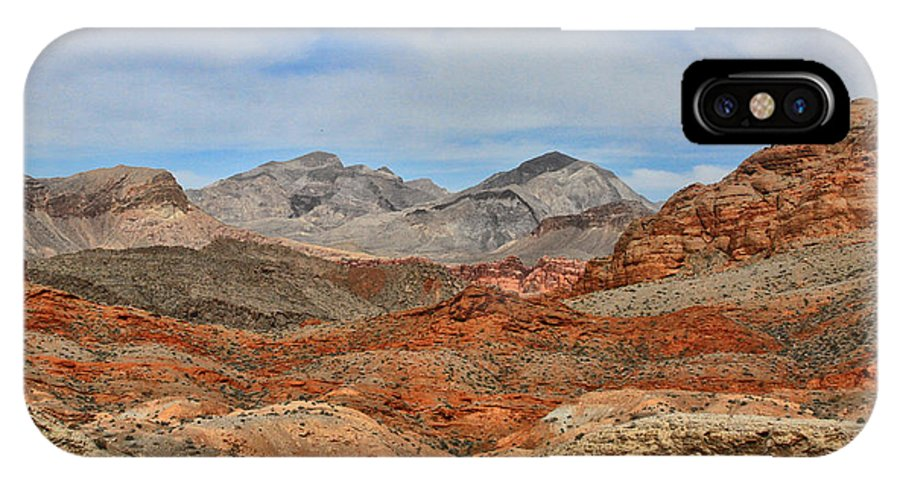 Desert IPhone X Case featuring the photograph Land Of Fire by Tammy Espino