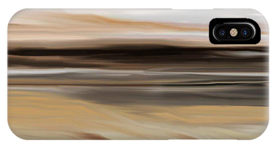 Landscape IPhone X Case featuring the digital art Landscape 103010 by David Lane