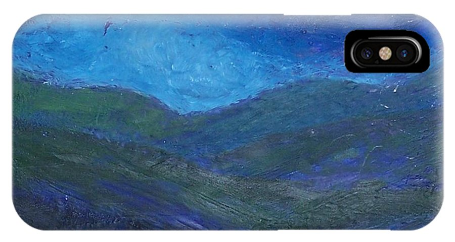 Lanscape IPhone X Case featuring the painting Landscape I by Emily Young