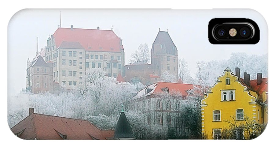 City IPhone X Case featuring the photograph Landshut Bavaria On A Foggy Day by Christine Till