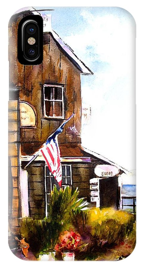 Langley IPhone X Case featuring the painting Langley Washington by Marti Green