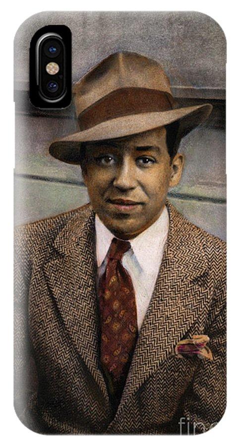 1939 IPhone X Case featuring the photograph Langston Hughes by Granger