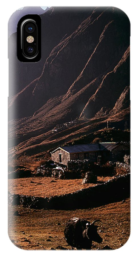 Langtang IPhone Case featuring the photograph Langtang Village by Patrick Klauss