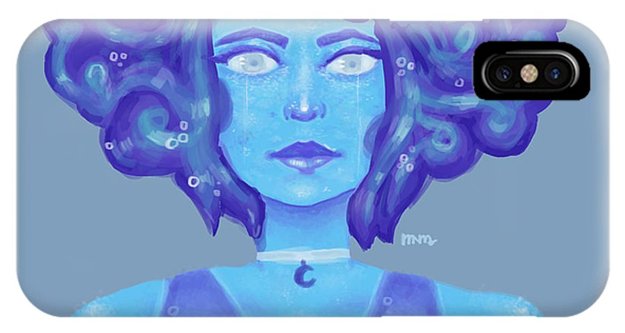 IPhone X / XS Case featuring the drawing Lapiis by Lofty Leviathan