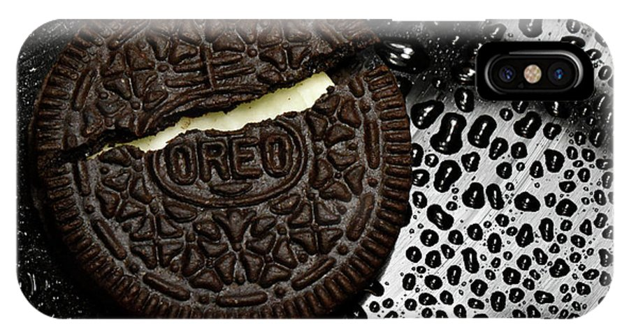 Cookie IPhone X Case featuring the photograph Large Oreo Cookie 1 by Nancy Mueller