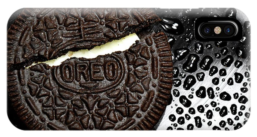 Cookie IPhone X Case featuring the photograph Large Oreo Cookie 2 by Nancy Mueller