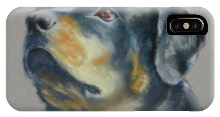 Dog IPhone Case featuring the painting Lars by Carol Mueller