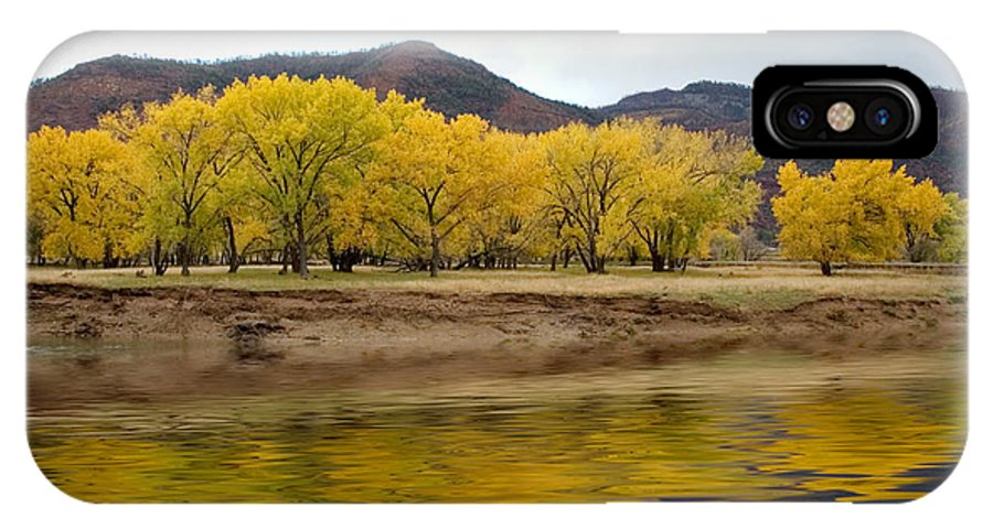 River IPhone X Case featuring the photograph Las Animas Fall by Jerry McElroy
