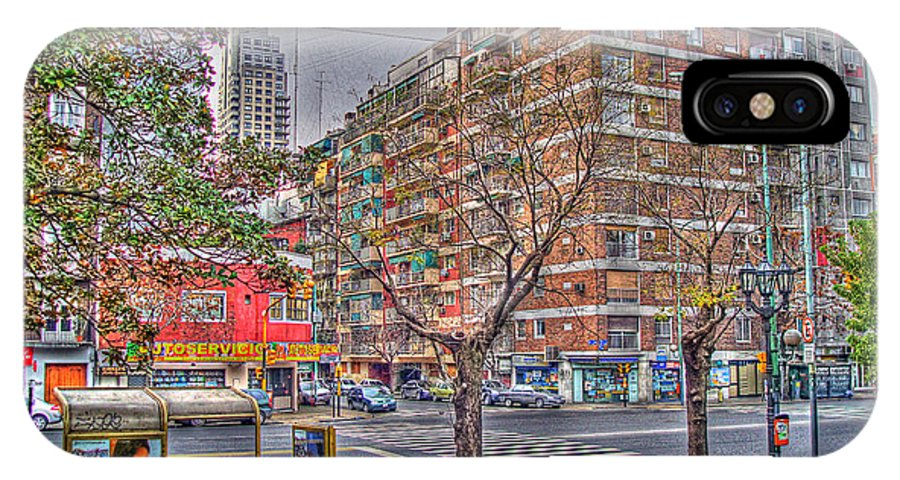Street IPhone X Case featuring the photograph Las Heras by Francisco Colon